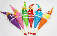 Wholesale Classic clown parent child retractable stick baby educational toys nostalgic classicshipping drop