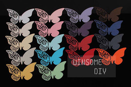 Wholesale Laser cutting Butterfly place card Beautiful Butterfly Wedding wine glass Escort cards100pcs BKHD001