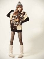 Wholesale Sale Wild Tiger Pattern Women s Sweaters Tiger Printing Leisure Sweaters Free GIFT
