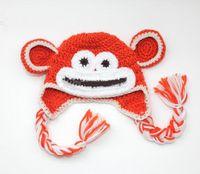 Boy Winter Crochet Hats Lovely handmade Baby Spring Crochet OWL Hat Kids Hand Crochet Animal Beanie Baby Cartoon Hat 30pcs Free shipping