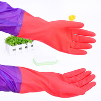 Wholesale Discount Long Sleeve Rubber Household Gloves Dishwasher Kitchen Accessories Gloves In The Kitchen Household Gloves Long Type