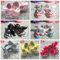 Wholesale CHEVRON baby toddler shoes Baby First Walker Shoes children Soft Sole shoes child non slip shoes toddler shoes childrens shoes Size Choose