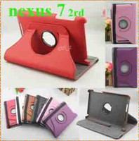 Wholesale 2013 New Google Nexus Case Rotating Flip PU Leather Stand Case Pouch For Google nd Generation Nexus