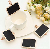 Wholesale Super Cute Mini Small Square Magnetic Wooden Paper Blackboard Clip Message Board Free Fedex L194