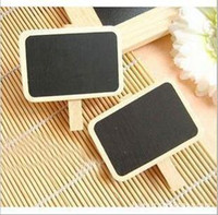 Wholesale Hot Selling Bulk Korean Mini Wooden Blackboard Cute Chalkboards Paper Clips L194