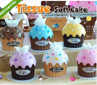 Wholesale Ice Cream Cake Type Car Home Towel Tissue Paper Box Holder Dispenser Cover