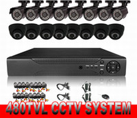 Wholesale 16CH CCTV System DVR Kit tvl CMOS Camera ch HDMI DVR Support P2P Easy Remote View Mobile Phone Monitoring
