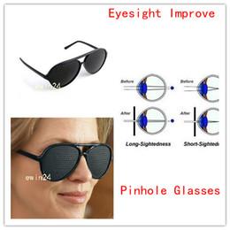 Wholesale New Eyewear Pinhole Glasses Sunglasses Eyeglass Exercise Eyesight Improvement