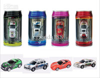 Wholesale 1pcs Radio Control Vehicles Rechargeable new Remote Control Car Micro Racing Car Coke Can Packaged