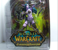 Wholesale WOW World of warcraft DC5 Night Elf Hunter Alathena Moonbreeze With Sorna Action Figure quot