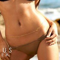 Celtic american girl bikini - Womens Body Chain Harness Bikini Jewelry Shape Infinity Symbol Unlimited Charm Waist Chains For Girl New Arrival