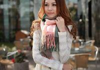 Wholesale Stylish men women cashmere wool long scarf grid gradient color scarves unisex autumn winter wraps shawl opera capecharm cappa collars jessie