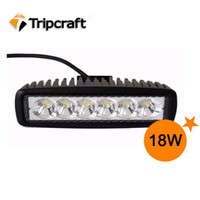 2013 ALL 120W 6pcs*3w 18W LED Work offroad Light Flood Beam fog driving bar 4WD 4X4 ATV Truck 18W LED bar light+18 months warranty