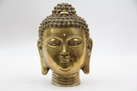 Wholesale Oriental Bronze Statue Sculpture Collectible Collection Buddha Head T049