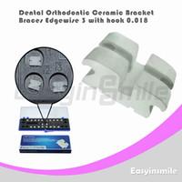 No No Manual Dental Orthodontic Edgewise Ceramic Bracket Brace 3 with Hook 0.018