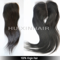 Wholesale A OFF fashionable wholesaler price best quality virgin human hair peruvian hair lace closures