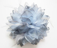 Wholesale 20Pcs Bride Bridesmaids Wrist Flowers Corsage Feather Decoration Bridal Headdress Dress with Flower Girl s Gift