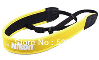 Wholesale Soft Neoprene Neck Strap yellow for Nikon D90 D3200 D800 D5000 D7000 D700 D4 D80