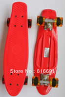 "Cheap free shipping 22"" Penny Nickel Skateboard drift Block Neon Orange PV Cruiser Mini Longboard Complete plastic penny skateboard"