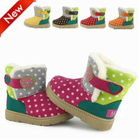 Wholesale Princess shoes baby shoes toddler shoes tendon Children s Shoes Children s Boot baby boots winter shoes girls boots Polka dot
