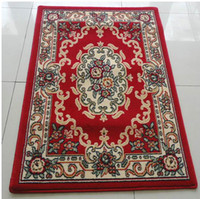 Wholesale European style x80cm Suede material flower printed floor mats floor rugs door mat carpets