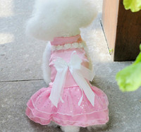 Wholesale pet spring amp summer clothing Wedding dress skirts Princess dress dog clothes Small dogs clothing color XS S M L XL