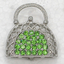 Wholesale Crystal Rhinestone Rhodium Plated Handbag Purse Fashion Costume Pin Brooch Gift Jewelry C130