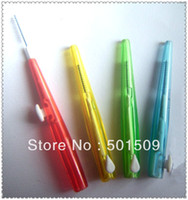 Wholesale interdental brush brightens enamel between teeth flexible wide bow fo easy use dental cleaner