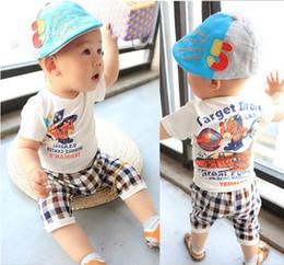Wholesale 2013 new summer children s clothing plaid leisure suit boy suit baby