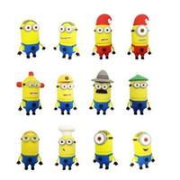 Wholesale hot selling Despicable Me yellow smile cartoon GB GB GB GB USB flash drive usb stick pen drive pen key thumb drive Udisk