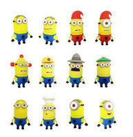 No USB 2.0 Plastic hot selling Despicable Me yellow smile cartoon 2GB 4GB 8GB 16GB USB flash drive usb stick pen drive pen key thumb drive Udisk