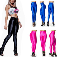 Skinny,Slim Washed Capris 2013 Women Plux Size Gym Leggings High Waist Neon Leggings Candy Colour Yogo Pants Fit Trousers Sport Tight Zipper Pants
