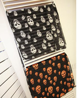 Wholesale NEW Autumn vintage silk Skull head carves women casual gorgeous print scarf shawl wrap cm Y08