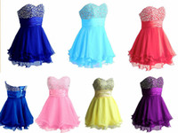 A-Line Chiffon Sexy Cheap More Colors ON SALE Sweetheart Short A-Line Layers Chiffon Beads Empire Waist Blue Homecoming Dresses Under 50 Graduation Prom Dress
