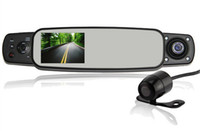 Cheap Rear View Mirror with Car DVR 3.0inch Screen,G-sensor,GPS,360degree wide angel, HDMI, AVI(1280*720P) 2000B Camera lens: 360degrees wide angl