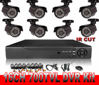 Wholesale 16ch CCTV System DVR Kit TVL Cameras with IR Cut ch DVR with HDMI amp VGA Output Mobile Phone View