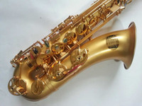 Wholesale The flax gold surface ALBAN hand graving craft of Tenor Gold Lacquer Saxophone