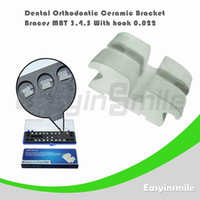 No No Manual Dental Orthodontic MBT Ceramic Bracket Brace 3,4,5 with Hook 0.022