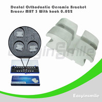No No Manual Dental Orthodontic MBT Ceramic Bracket Brace 3 with Hook 0.022