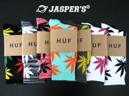 Wholesale Huf socks Retail fashion cotton socks men s brand huf socks men huf plantlife socks designer weed sock cheap streetwear Marijuana leaf