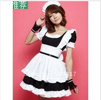 Wholesale hot sell french Maid costume game uniforms servant women sexy lingerie party uniform black pE113