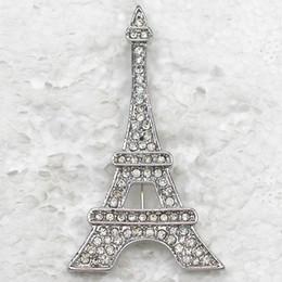 12pcs lot Wholesale Crystal Rhinestone Eiffel Tower Brooches Fashion Costume Pin Brooch & Pendant C326