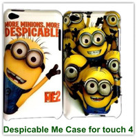 Wholesale 2PCS Despicable Me Cartoon Hard Plastic Back Skin Covers Case for iPod touch