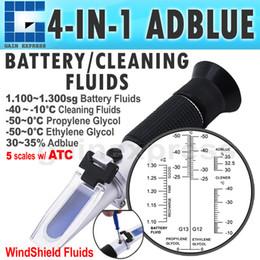 RHA-701ATC Hybride optique 4-en-1 Auto Adblue Test de concentration en urée Refractomètre Fluide de la batterie Ethylène Propylène Glycol ATC à partir de concentration d'essai fabricateur