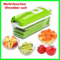 Wholesale Hot selling sets Vegetable Fruit Nicer Dicer Slicer Cutter Plus Container Chopper Chop Peeler Multifunctional Shredder suit
