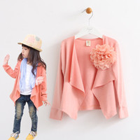 Wholesale Rib cotton flower wild irregular cut sweater cardigan jacket