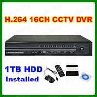 Wholesale 16CH Channel H Network DVR TB GB Hard Drive Included Home Security Standalone Digital DVR Recorder