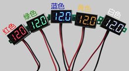 Wholesale 5 Ultra Small quot Volts Measure Meters DC V Red Green Blue Yellow White LED Digital Voltmete