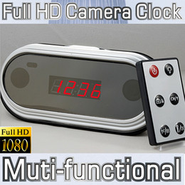 Wholesale Fashion Full HD P Mirro Digital Clock mini DVR Alarm Hidden Camera HDMI Mini camcorder hours recording Multifunction