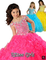 Wholesale Hot New custom Made perfect Lace Up female beading flower girls dress A8000